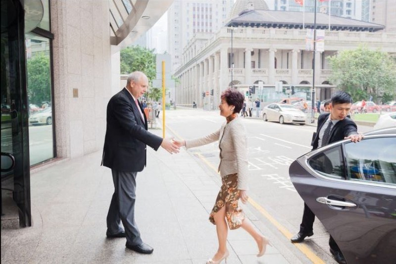 Horst Geicke welcomes Carrie Lam